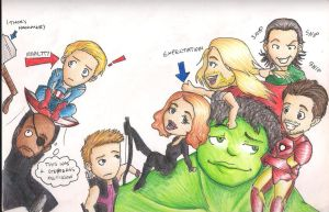 Chibi Avengers by TheMuzbo