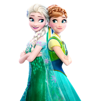 Elsa and Anna Frozen Fever - Vector by Simmeh
