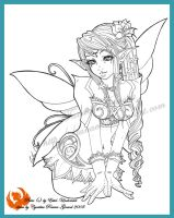 Commission - Pixie lineart by Tanael
