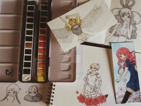 lots of wips! by ronniethemermaid