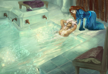 Baths in Kharbranth palace by TigRaidoXXX