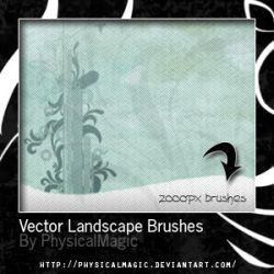 Vector Landscape Brushes. by PhysicalMagic