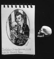 Inktober - Drawlloween / day 27: Vincent Price by Frankienstein