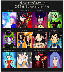 2016 Art Summary - SketchyRian by SketchyRian