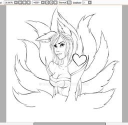 Just some progress of my Ahri by Koneko94