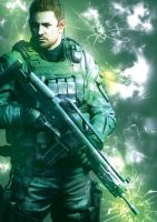 Chris Redfield by Luckee-Jynxe