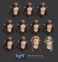 Rift: High Elf Female Head Customisation by HazardousArts