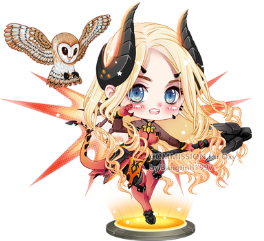 Commission: Oxy in Mercy Devil skin by BangLinh1997