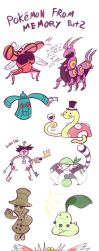 Pokemon From Memory Part 2 by TamarinFrog