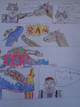 Fire Elve first Trial Comic by woodywoodwood