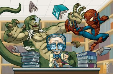 **Spoiler** Lil Spidey Hittin' the Books by lordmesa