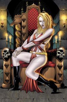 Vampire pinup colors by seanforney