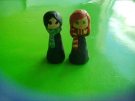 Snape and Lilly clay figures by LillyEvans626