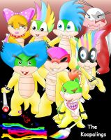 Bowser's Koopalings by Bowser2Queen