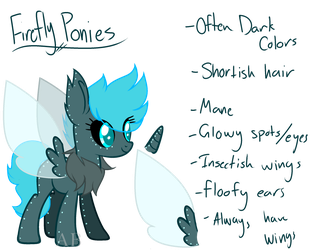 Firefly Ponies (Closed Species) by AdoptblePonies