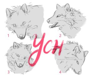 [2/4 Open] YCH Wolf Portraits - PRICES LOWERED by Nimiszu