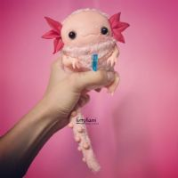 Axolotl art toy by Furrykami-creatures