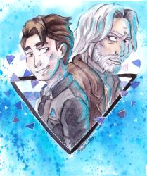 Hank and Connor by paurachan