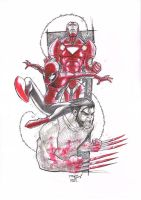 IRON SPIDEY LOGAN MARKER MADSS by deemonproductions
