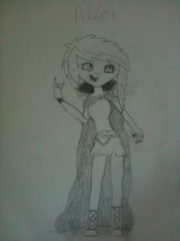 Alice  my hotel Transylvania oc (Not colored) by SP-KENNYLOVER1