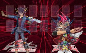YGO 5Ds and ZeXal Playmat by YuseiFudoFan01