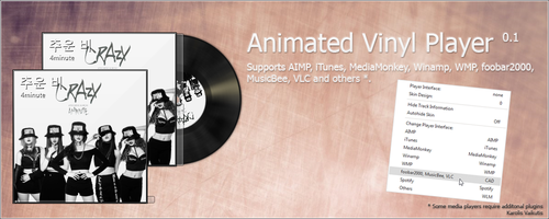Animated Vinyl Player 0.2 - Now Supports Spotify! by Blantas
