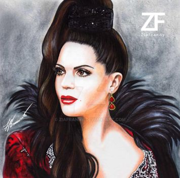 Evil Queen illustration by Francesca Benevento by ZiaFranny