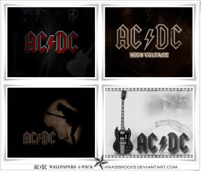 4 packaged AC DC wallpapers by krassrocks