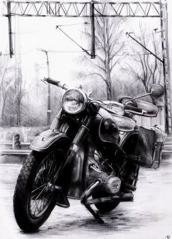 Ural M-61 pencil on A4 by WildGoska