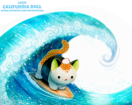 Daily Paint 2121. Califurnia Roll by Cryptid-Creations