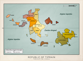 Tiprain Political Map (Anterra) by graphicamechanica
