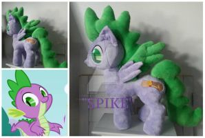 mlp plushie commission SPIKE PONIFIED by CINNAMON-STITCH