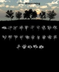 Tree Silhouettes vol.3 - Blossoming by Horhew