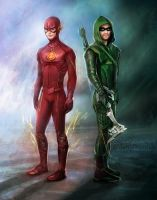 Flash + Arrow by daekazu