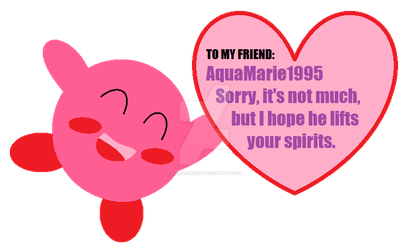Happy Valentines Day From Kirby by AnimeCitizen