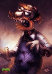 Zombie Simpsons: Groundskeeper Willie by Jimmy-Synthetic