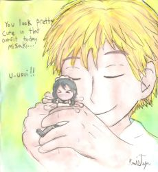 Usui and Misaki cuddle by Friendlyfoxpal