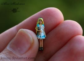Alice in Wonderland from polymer clay (18 mm) by Krinna