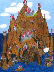 Mountain Castles by Stego1
