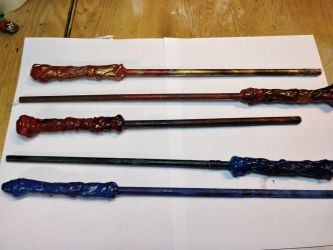 Wizard Wands (red and blue) by Lord-Hayati