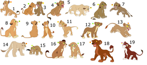 FREE !!!!!!!!!!!!!!!!! lion cub adoptables 4 by knowitall123-adopts