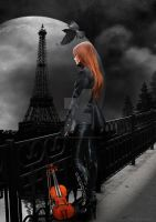 Lonely Paris by babsartcreations