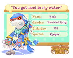 PKMNSkies NPC - Kody the Kyogre by KayVeeDee