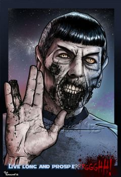 Zombie-spock by ted1air