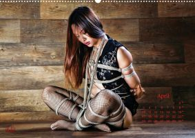 Beauty of Rope IV, Fine Art of Bondage - Calendar by Model-Space