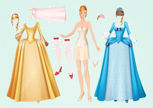 Paperdoll Angelique sheet for print by BlackBastet