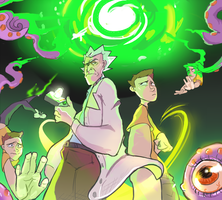 Rick and Morty portal by DiabolicalDog