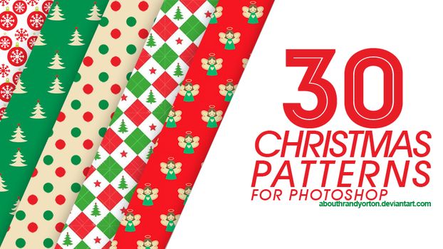 30 Christmas Patterns for Photoshop by AbouthRandyOrton