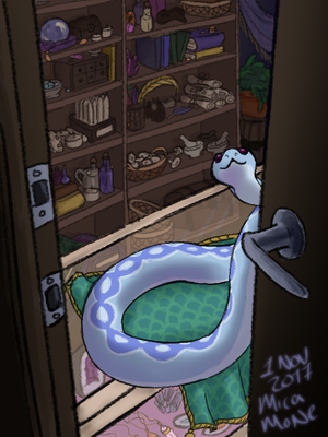 U Visit A Magic Shop After Hours by micamone
