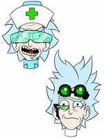 Surgeon and Lab rick by Evilunicorn97